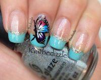 Gold Nail Art Butterflies   newhairstylesformen2014.com