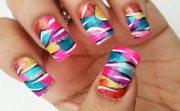 colorful zebra pop nails - favnails
