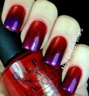red purple gradient nails - favnails