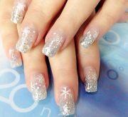 silver glitter snowflakes perfect