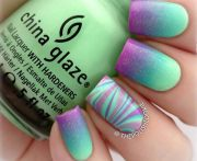 teal purple gradient marbled accent