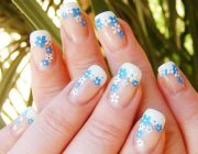 white blue flowers spring french