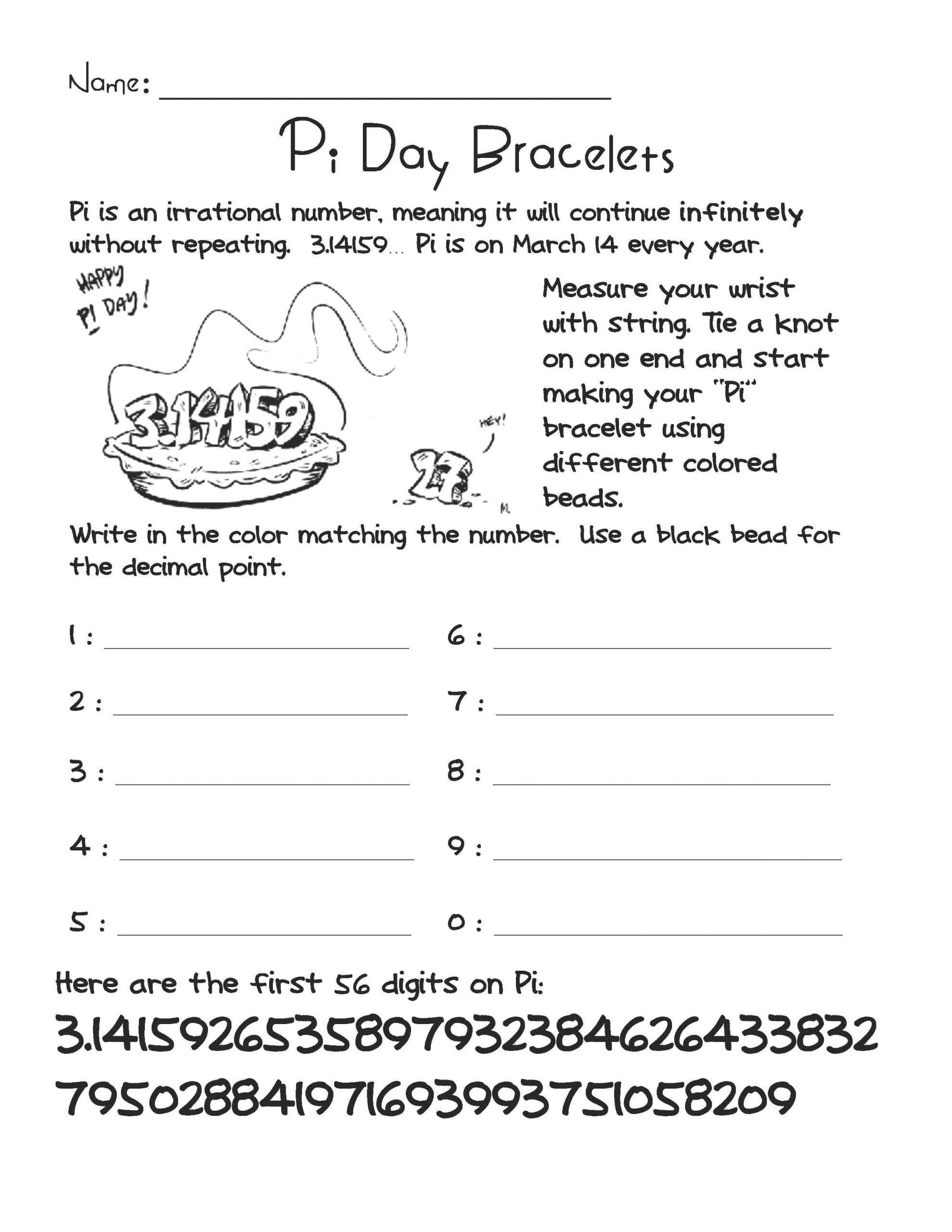 21 Best Ideas Pi Day Worksheets Activities Home Family