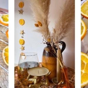 Sinaasappelslinger als kerstdecoratie; hoe leuk!