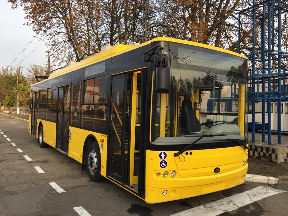 Херсон першим в Україні отримав тролейбуси европейського зразка