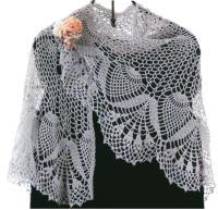 Crochet shawl PATTERN, crochet wrap with pineapple motif ...