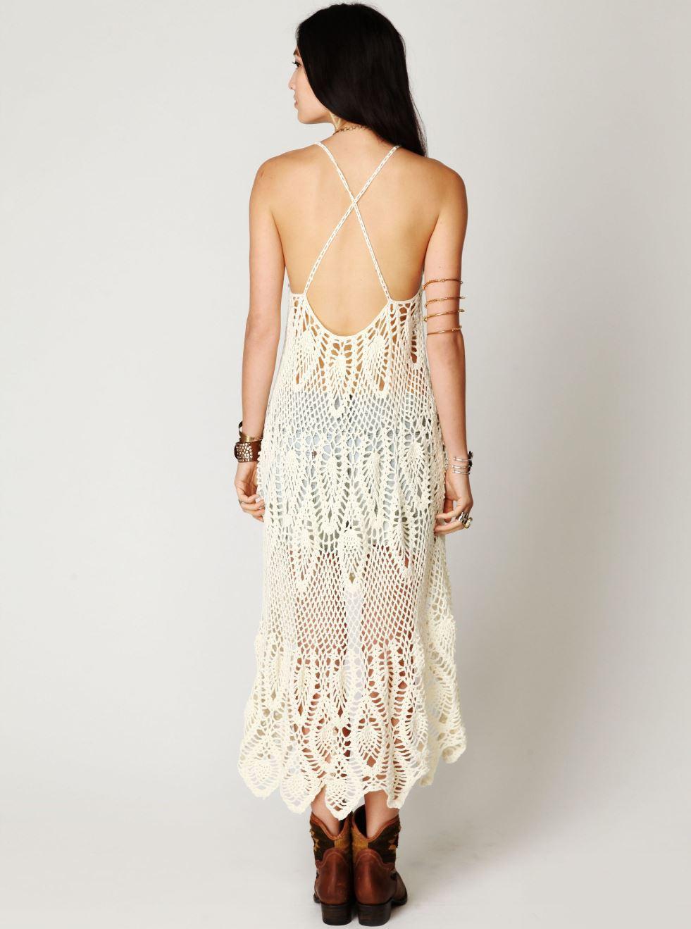 Designer crochet dress PATTERN, beach wedding dress