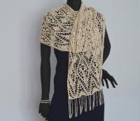 Crochet wrap PATTERN, wedding crochet shawl pattern ...