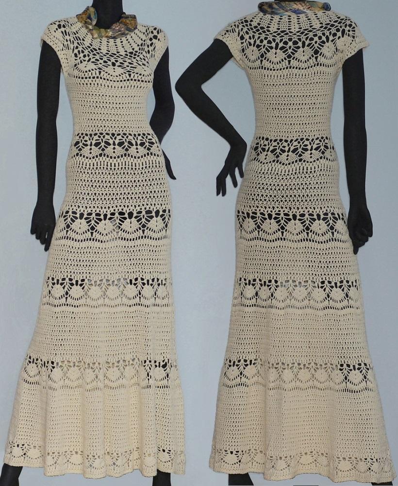 Beach wedding crochet dress PATTERN, maxi crochet wedding