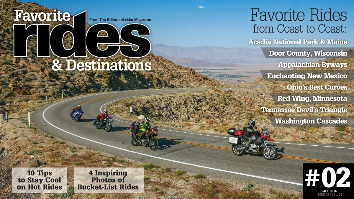 Favorite Rides & Destinations Fall 2016