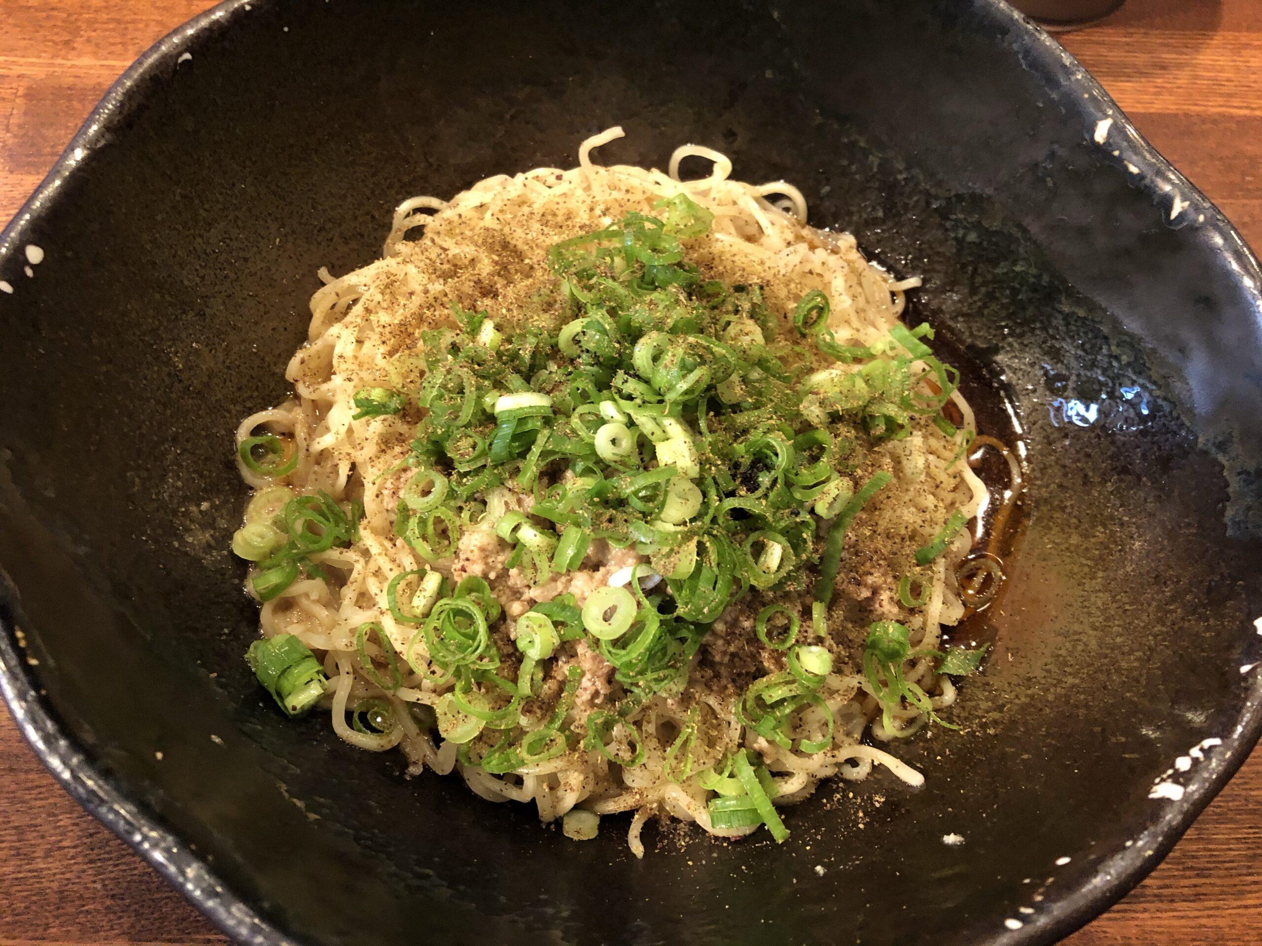 広島式汁なし担担麺「キング軒」30回以上混ぜて食べましょう