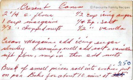 Crescent Canes Recipe - Favourite Family Recipes