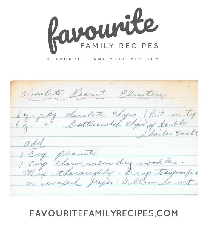 CHOCOLATE PEANUT CLUSTERS RECIPE - FAVOURITE FAMILY RECIPES