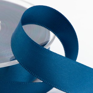Smoke Blue Satin Ribbon