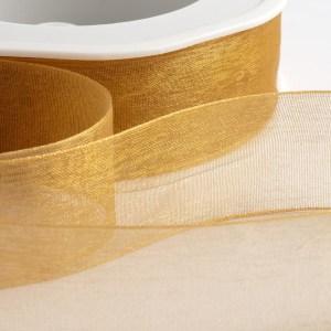 Antique Gold Organza Ribbon
