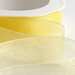 Bright Lemon Organza Ribbon
