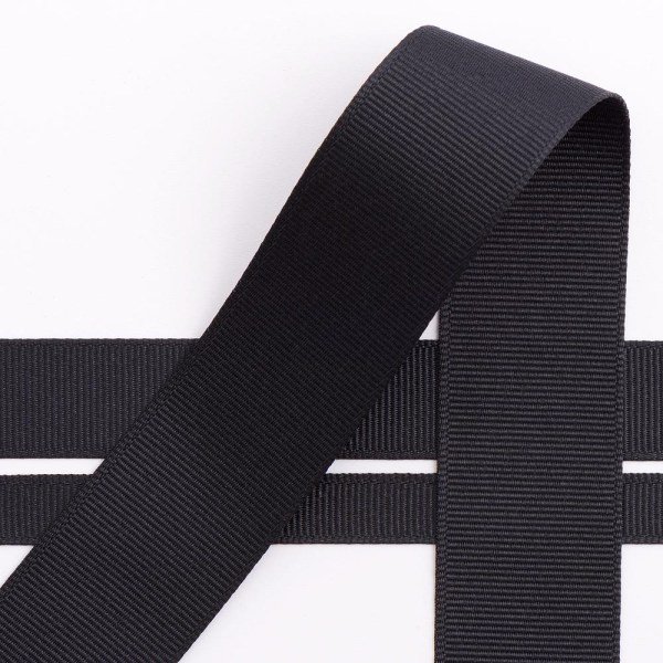 10mm Black Grosgrain Ribbon 10M