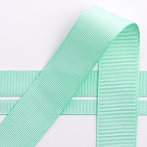 10mm MInt Green Grosgrain Ribbon 10M