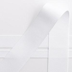 10mm White Grosgrain Ribbon 10M