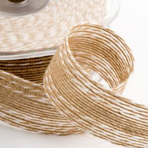 25mm Stitched Hessian Ribbon