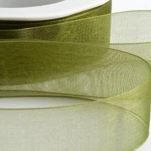 7mm Moss Green Organza Ribbon 50M