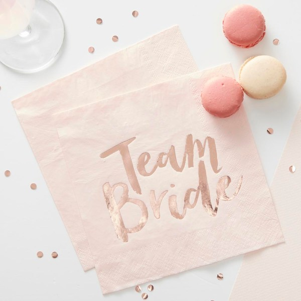 Pink & Rose Gold Hen Party Napkins