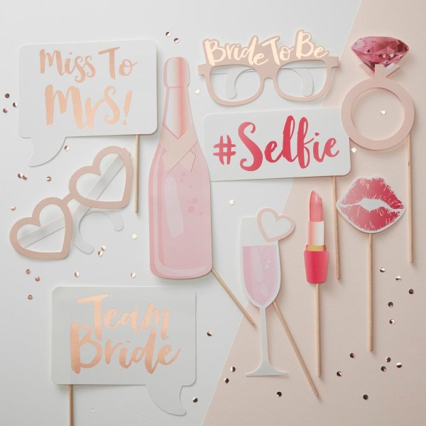 Bride Hen Party Photo Booth Props