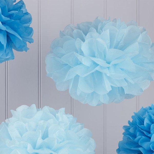 Baby & Dark Blue Pom Pom Set