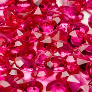 Cerise Pink Table Crystals