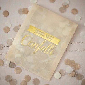 Confetti Envelopes x 10 Gold