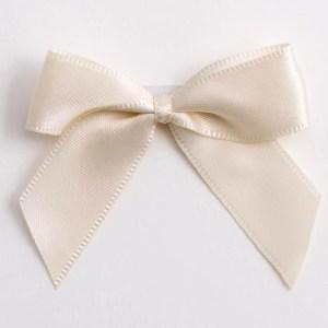 Cream Satin Bows 12 Pack