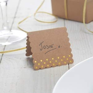 Gold Foiled Kraft Place Cards