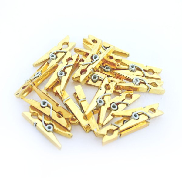 Gold Mini Wooden Pegs