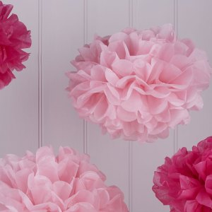 Hot & Light Pink Pom Pom Set