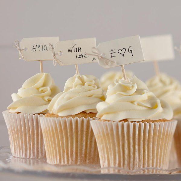 Ivory Blank Cupcake Sticks