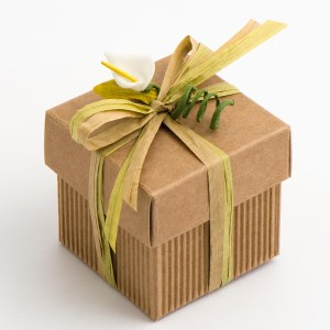 Kraft Corrugated & Rustic Square Favour Box and Lid