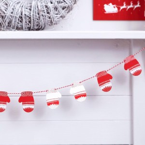Mini Christmas Mitten Wooden Bunting