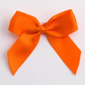 Orange Satin Bows 12 Pack