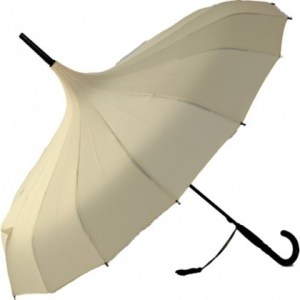 Oriental Cream Pagoda Umbrellas