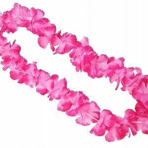 Pink Hawaiian Lei Necklace