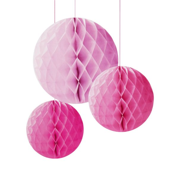 Pink Honeycomb Set