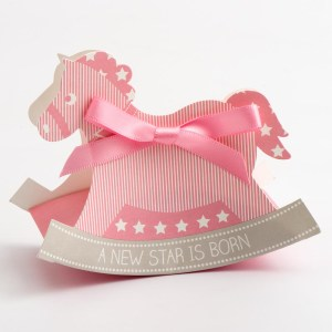 Pink Rocking Horse Favour Box