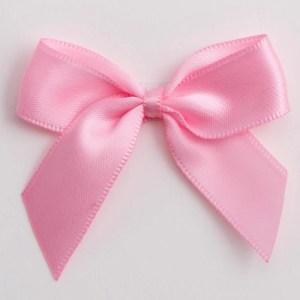 Pink Satin Bows 12 Pack