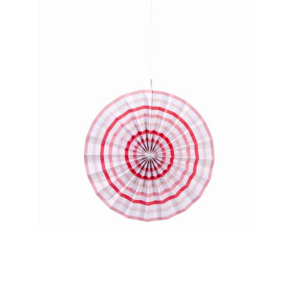Pink Stripe & Polka Dot Pinwheel Decorations