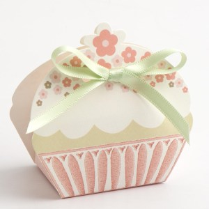 Pink 'With Love' Cupcake Favour Box