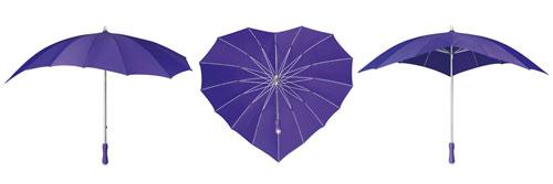 Heart Umbrellas - Purple