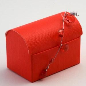 Red Silk Cofanetto Favour Box