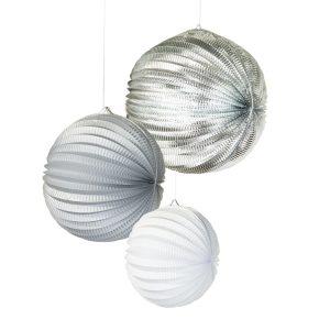 Silver Concertina Lanterns