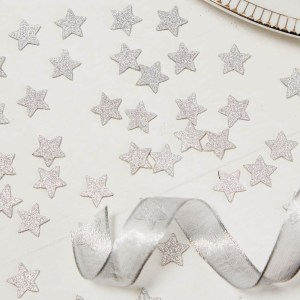 Silver Glitter Star Table Confetti