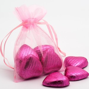 Small Pink Organza Favour Bag